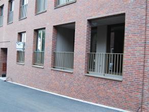 Appartement gelijkvloers Wetteren Project W2O, Appartement op het gelijkvloers (B2), Marktdreef 30 Bus 01 Woonkamer-Open keuken, badkamer met inloopdo