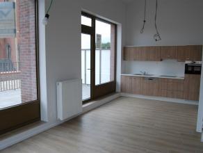 Appartement 3de verdieping Wetteren Project W2O, Appartement op de 3de verd. (C27), Rode Heuvel 4D bus 302, Wetteren Woonkamer-Open keuken, badkamer m