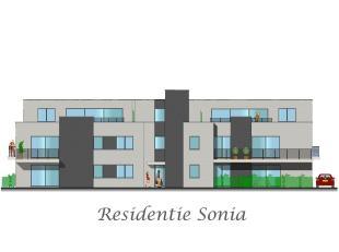 Nieuwbouw appartement gelegen op de 1e verdiepingbinnen residentie Sonia<br /> Het appartement (+/- 83 m²) bestaat uit:<br /> * Inkomhall<br /> *