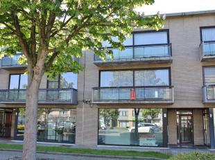 Licht appartement gelegen aan de Vismarkt in hartje Tessenderlo bestaande uit: inkomhall, apart gastentoilet met handenwasser, leefruimte met eet-en z