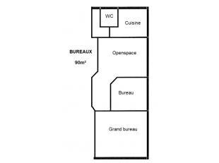 ZONING NORD DE WAVRE : Espace de bureaux de 90m² ! idéalement situé tout près de l'E411. Bureaux chaleureux, lumineux et bie