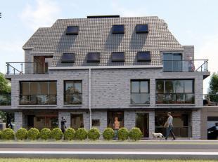Dit nieuwbouwappartement op de tweede verdieping van Residentie Sofie is gelegen aan de rechtse kant. Indeling: inkom, toilet met een handwasser, 2 sl
