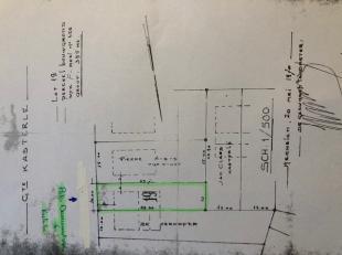 """NIEUW:<br /> Bouwgrond voor een """"HOB"""" met een totale opp van 3a 95ca.<br /> Breedte grond = 10m ; diepte = 39,70m.<br /> Gevelbreedte vooraan Pater Da"""