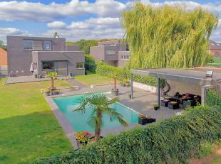 Deze villa is gebouwd in 2006 onder minimalistische architectuur en ligt in het geliefde Rekem. Het Nationaal Park Hoge Kempen bevindt zich op wandela