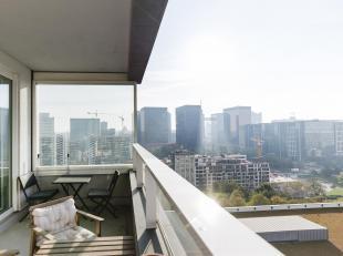 """Vivez dans la prestigieuse tour """"Up Site"""" et profitez d'une vue exceptionnelle sur Bruxelles! Cet appartement 2 chambres vous offrira confort et bien-"""