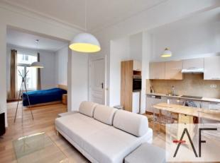 Louise / Place Stéphanie: Charmant et lumineux studio dans belle maison bruxelloise, meublé style moderne de +- 50m² composé