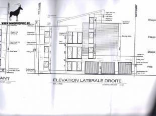 CHARLEROI - Terrain à bâtir exceptionnelle avec et projet déjà accepté pour 3 appartements et 3 garages !!! Id&eacut