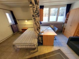 LLN, quartier Hocaille, beau studio de 32m² entièrement meublé comprenant sas d'entrée, WC séparé, pièc