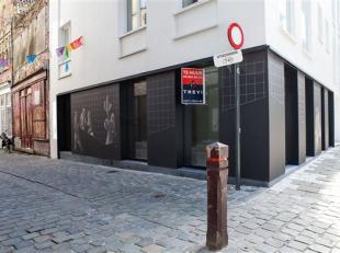 PRIJS IS INDICATIEF - Dit uiterst kwalitatief gerenoveerd winkelpand in de Gentse Serpentstraat leent zich tot een prestigieus product of service. De