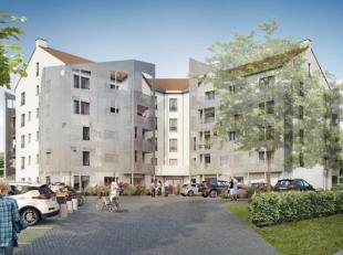 Nouvelle promotion de 31 unités (studio, app. 1-2 ch) : App. 2 ch. de ± 95,7m² rdc + jardin (± 46,5m²) et terrasse de &