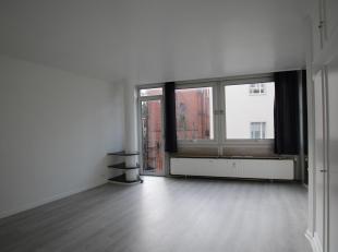 Quartier Louise / Stephanie. ± 35m² studio met een woonkamer / slaapkamer, een keuken (gootsteen, gasfornuis, koelkast en vriezer), een ba