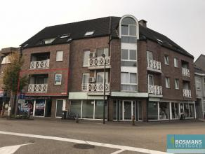 2-slaapkamer appartement met een terras aan voor- en achterzijde in het centrum van Arendonk. Indeling: inkomhal, woonkamer met terras, keuken met ker