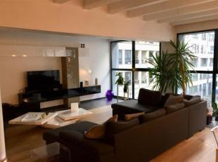 In de buurt van Sainte Catherine.Prachtige loft van 180 m².Inkomhal, woonkamer met parketvloer: woonkamer (TV-meubel), woonkamer (hangend buffet)