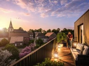 Nieuwbouw 1 slaapkamer appartement met terras en balkon op de eerste verdieping (62m²) met lift nabij centrum Groot-Bijgaarden omvattende living