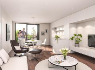 Nieuwbouw 2 slaapkamerappartement (78m2) met lift op de 2de verdieping met terras en balkon nabij centrum Groot-Bijgaarden omvattende living met volle