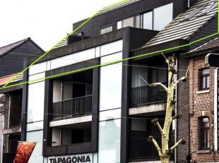 Modern en recent penthouse met 3 slaapkamers (2011), ééngezinswoning, gelegen Pauwengraaf 51 bus 9 te Maasmechelen (vooraan). Deze ruime