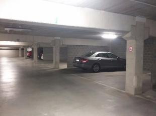 Open staanplaats in een ondergrondse parkeerkelder beschikbaar. Nummer 2.47 en 2.49. Toegankelijk met 2 automatische poorten. 60 euro per staanplaats,