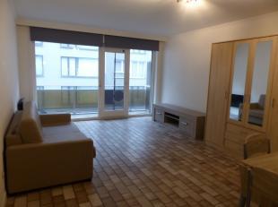 Op de 2 de verdieping van Residentie Thalassa bevindt zich deze ruime studio. Zongericht terras en schuin zeezicht. Studio met een ruime woonkamer en