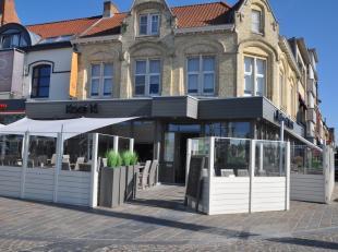 Restaurant op topligging, hoekzaak te Nieuwpoort-stad met ruime terrassen. Smaakvolle en kwalitatieve inrichting. Professioneel uitgeruste keuken met