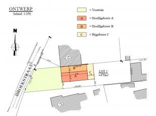 Bouwgrond voor HOB op een zeer rustige afgelegen locatie (doodlopend straatje te midden in groene omgeving). Het perceel betreft 4a70ca en omvat de mo