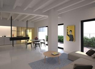 Superbe 4e étage d'un immeuble NEUF situé en plein quartier Ste Catherine à proximité de toutes les commodités...R&