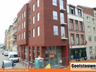 Zeer gunstig gelegen nieuwbouw handelsgelijkvloers in trendy wijk Antwerpen-Dam bij nieuw park 'Spoor Noord'. Uitermate geschikt als kantoor- of buree