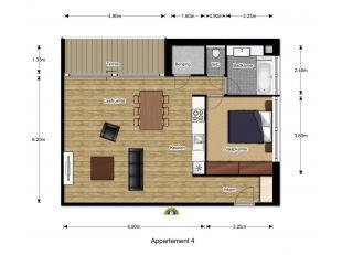 Nieuwbouw appartement te residentie Diabolo, gelegen in de Wilrijkse wijk Duivelshoek ter hoogte van de Krijgslaan nabij De Bist. Verkoop onder 10% re