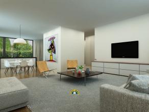 Luxueus nieuwbouwproject tegenover de jachthaven op Linkeroever ! Appartement 003 - 122 m² + 45 m² terras + 206 m² privé tuin -