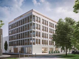 Gelijkvloerse nieuwbouw kantoren binnen het project Tondelier gelegen aan het gerechtshof te Gent.<br /> Casco oplevering.
