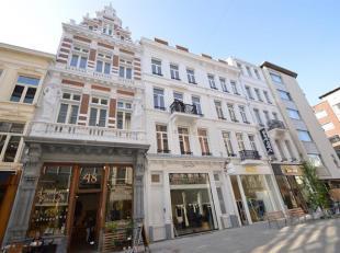 Eén slaapkamer appartement in prachtig pand met allure op wandelafstand van de Groenplaats, de Kammenstraat en het modemuseum in zeer trendy en