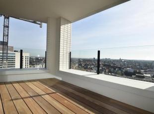 Nieuwbouw appartementmet 3 slaapkamers, een schitterend zicht over de stad en een zonnig terras gelegennabij hetCentraal station.