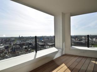 Nieuwbouw appartementmet2 slaapkamers, een schitterend zicht over de stad en een zonnig terras gelegennabij hetCentraal station.
