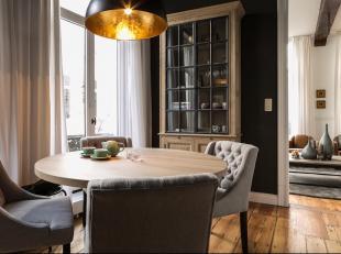 Dit prachtig gemeubeld duplexappartement is gelegen in het centrum van Antwerpen.