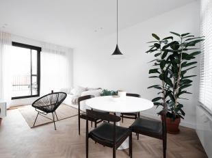 Prachtig volledig gerenoveerd appartement in de bekende Kloosterstraat op het hippe Antwerpse Zuid.<br /> Indeling: Via de trap bereiken we de inkomde
