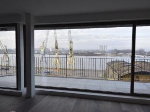 Schitterend appartement op de 5de verdieping gelegen in één van de laatste projecten aan het water met frontaal scheldezicht. Residentie