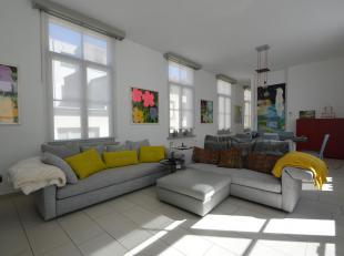 Dit duplex appartement bevindt zich op een rustige locatie in het centrum van Antwerpen.<br /> Indeling: via de inkomhal bereikt men de grote leefruim