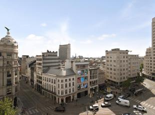 Te midden van de stad, op wandelafstand van de Groenplaats en de Grote markt bevindt zich dit royaal appartement met mooie terrassen en parkeergelegen
