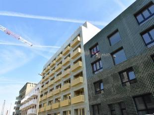 Nieuwbouwappartement met terras op de derde verdieping met 1 slaapkamer gelegen in project KAAI 37 naar een ontwerp van META architectuurbureau. KAAI