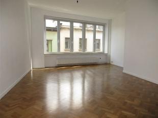 Eénslaapkamer appartement met ruime living en slaapkamer. Modern comfort. Nieuwe keuken met toestellen. Achteraan gelegen, zeer rustige, slaapk