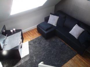 Zeer aangename gemeubelde duplex studio op de bovenste verdieping van een herenhuis in residentieel Wilrijk. De studio bestaat uit een zeer gezellige