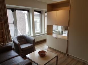 Gezellige, moderne studio van +/-40m² , centraal gelegen op 4de verdieping van Res. Gouden Reaal, langsheen de Scheldekaai, vlakbij de Grote Mark