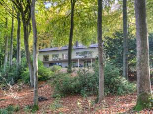 Deze recent vernieuwde villa is gelegen in één van de mooiste privé bossen uit de Vlaamse Ardennen en dit op maar minstens 2,4 ha