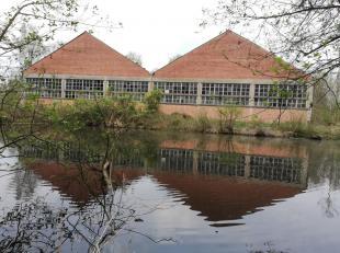 Te renoveren bedrijfsgebouw van 900 m², op een domein van 1,85 hectare natuurgebied, gelegen binnen de Ring van Mol.<br /> De bestaande construct