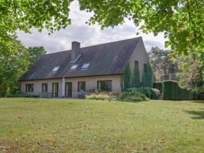 Uiterst ruime villa met 5 slaapkamers(meerdere nog mogelijk) op een prachtig perceel van 5.307m², zeerrustig en landelijk gelegen.Zeer goed onder