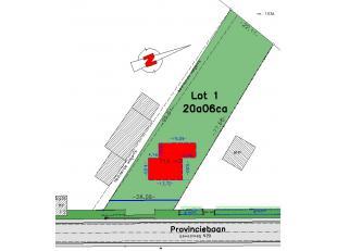 Bekkevoort Provinciebaan 27: Grond waarop hoeve (te renoveren of af te breken, geen verwarmingsbron) met goedgekeurd stedenbouwkundig attest van 21 ok