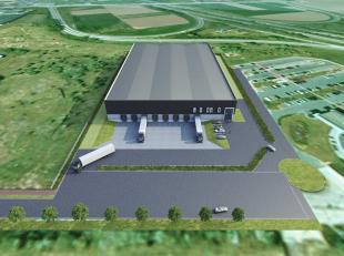 Terrein van 14.820 m² (lot 2) met een nieuwbouw bedrijfspand van max. 7.430 m² (op maat) te koop en te huur op zichtlocatie langs de E313 in