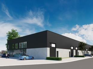 Gloednieuwe KMO-unit met een oppervlakte van 221 m² te koop nabij de R4 te Zelzate. De nieuwbouw loods is voorzien van een sectionale poort, een