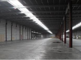 Welgelegen opslagruimte met een oppervlakte van 10.135 m² te huur nabij het knooppunt van de E17/E40 en de Ring te Zwijnaarde. De loods heeft een