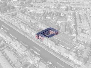 Kwalitatieve kantoren op een toplocatie nabij de binnenring in Gent-Centrum. De atypische kantoorruimte is deels opens space, deels ingericht en voorz