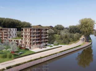 Casco handelsruimte/praktijk met een oppervlakte van 173 m² te koop nabij de Brugse Vaart te Brugge. De nieuwbouw ruimte is gelegen in een groene